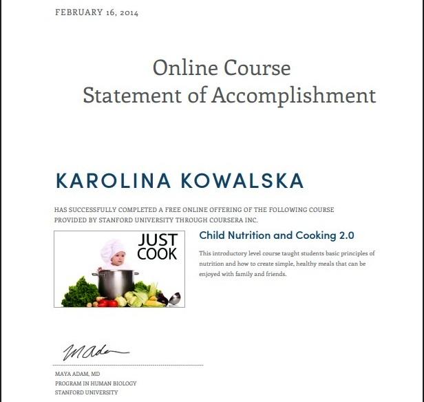 certyfikat dietetyk kowalska czerwińsk