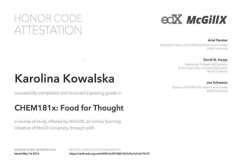 certyfikat dietetyk kowalska